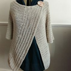 Creating a cardigan: finished garment