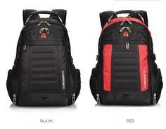 Unisex Swissgear Backpack 15-17   Laptop Bag Travel Hiking Backpack Black Nylon