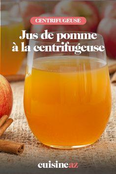 Un jus de pomme à la centrifugeuse est une boisson rapide à préparer pour le petit déjeuner par exemple ! #recette#cuisine#pomme #fruit#jus #robot #centrifugeuse Cantaloupe, Robot, Cooking Recipes, Morning Breakfast, Drinks, Robots