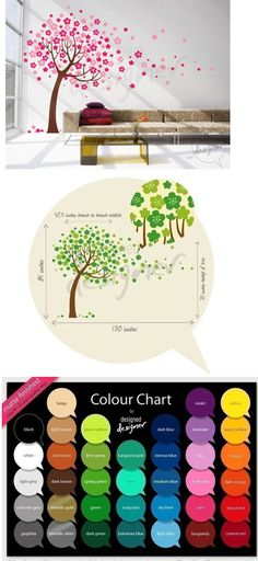 Custom Trailing Cherry Blossom Tree Wall Mural - Wall Sticker Outlet