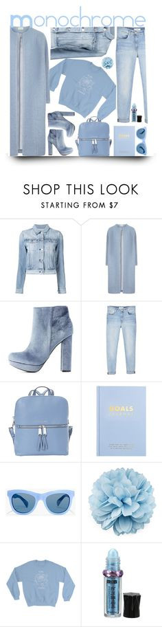 """monochrome"" by katymill ❤ liked on Polyvore featuring 3x1, Charlotte Russe, MANGO, MICHAEL Michael Kors, kikki.K, J.Crew, Gucci, monochrome, chic and Blue"