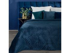 Queen Size Bedspread, Velvet Bedspread, Velvet Quilt, Blue Bedding, Quilted Bedspreads, Full Bed, Cover Size, Bed Spreads