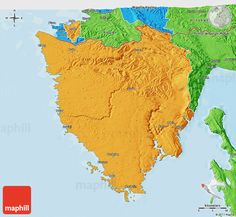 Political 3D Map of Crna Gora Montenegr Pinterest Montenegro