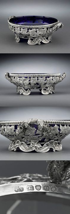 A work of stunning detail, this rare and beautiful bowl is a masterpiece by English silversmith Paul Storr. This renowned master was known for the intricacy of his work. Hallmarked London 1829.
