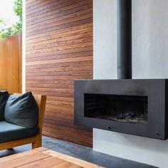 Adezz Corten Steel Garden Feature Fire Outdoor Heating Enok Wall Hung Wood Burner