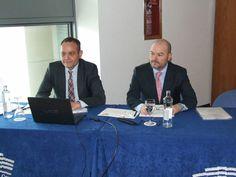 Álex Ferrándiz y Ángel Montesinos, gerente y presidente, respectivamente, de la Asociación de Consignatarios de Buques de Barcelona - Diario del Puerto