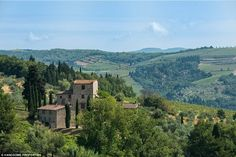 Near Siena, in Tuscany, a sprawling Italian villa, which was once owned by famed painter, ...