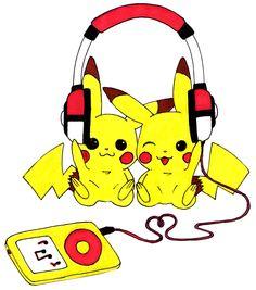 Pikachu Music Love by littlenatnatz101.deviantart.com on @deviantART
