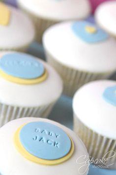 the cupcake studio - baby shower - baby boy cupcakes