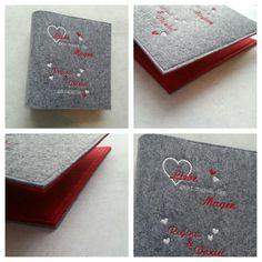 Kochbücher - Rezeptordner ♥ Wunschtext ♥ Filz, A5, Hochzeit - ein Designerstück von fadenwuermchen_de bei DaWanda