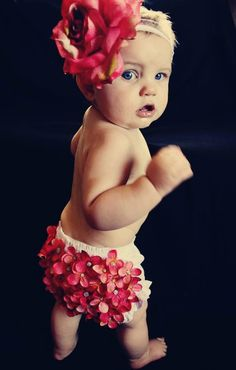 Bloomer Set, Baby Girl Bloomers, Flower Bloomers, Rose Headband, Photography Prop, Baby Shower Gift.