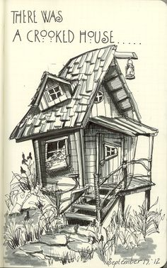 There was a Crooked House inspired by a pin on my own Pinterest Board.