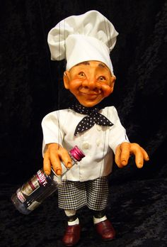 Chef Marionette (Made to Order) door ofMiceandMarionettes op Etsy https://www.etsy.com/nl/listing/116941841/chef-marionette-made-to-order