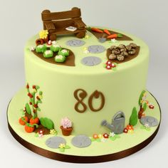 Allotment Themed Birthday Cake - Cake by Fancy Cakes by Linda