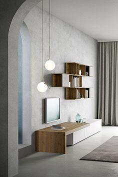 Die Moderne TV Wohnwand Ist Von Novamobili Aus Italien. #modern #tv  #tvwohnwand