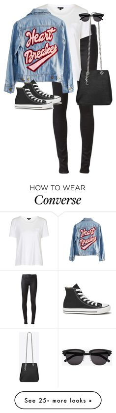 """""""Untitled #11432"""" by alexsrogers on Polyvore featuring Diesel, Topshop, High Heels Suicide, Converse and Yves Saint Laurent"""
