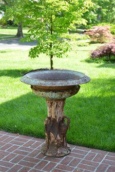 Vintage Cast Iron Grape Leaf Park Patio Garden Yard Long