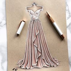 Easy and nice dress drawing #fashiondesign #fashiondeawing #illustration #fashionillustration #sketches #fashionsketches #skechtbook #sketching #illustratior #fashion