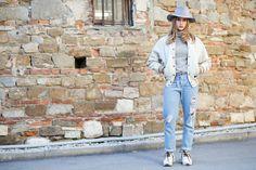 Our latest Street Style installment features Italian beauty Cristina Marino in visvim, Bleu De Paname and Larose Paris.