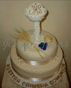 tortas de comunion con fondant