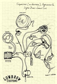 chopper wiring diagram choppers the o jays the lowbrow customs motorcycle wiring diagram capacitor no battery regulator and single dual lead coil
