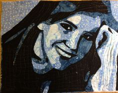 Portrait quilt of my granddaughter, Jenn, I made during a class by Maria Elkins