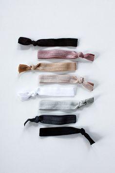 elastic hair ties -- neutral palette / etsy
