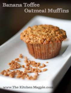 Oatmeal Toffee Banana Muffins from @Matty Chuah Kitchen Magpie- Karlynn Johnston