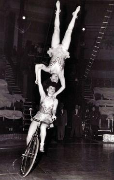 Austrian acrobats in action, 1954.