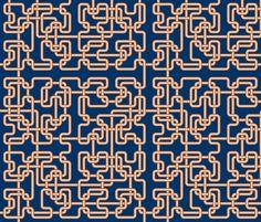 hilbert4 plumbing fabric by sef on Spoonflower - custom fabric