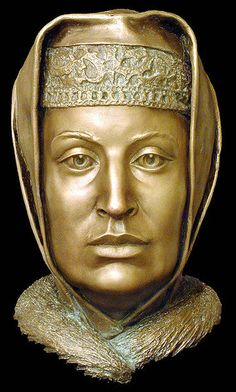 Grand Duchess of Moscow, byzantine princess Sophia Palaiologina (mother of Ivan the Terrible), Forensic facial reconstruction by S.A.Nikitin.