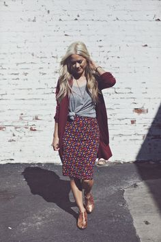 Style Roe: LuLaRoe Cassie pencil skirt with booties and cardigan. Love the Cassie skirt from LuLaRoe!