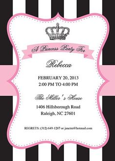 Celebrate Julie's Birthday! | Projects to Try | Pinterest | Princess Party Invitations, Princess Party and Party Invitations