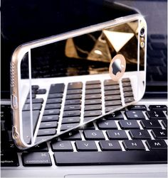 Hot Sale Luxury Mirror Electroplating TPU Case For iPhone 6 / For iPhone Soft Clear Transparent Mirror Ultra Slim Cover Iphone 6 S Plus, Iphone 5s, Iphone Charger, Iphone Cases, Iphone Reviews, Youre Like Really Pretty, Luxury Mirror, Bling, Cute Phone Cases