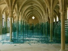 """Creative use of space and material. Bravo! """"Sea of broken glass"""" and """"Porto"""" by Claudio Parmiggian"""