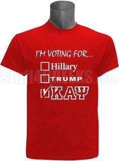 f8eb168db2a8 I m voting for Kappa Alpha Psi screen printed election t-shirt.  35.00