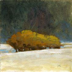 MARC BOHNE - landscape, painting, snow