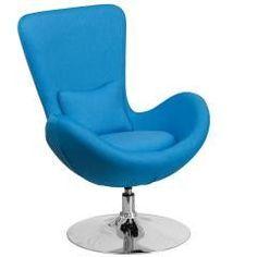 Aqua Fabric Egg SERIES Lounge - Side Chair
