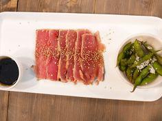 Oxfilé- och tonfisktataki | Recept från Köket.se Sashimi, Fine Dining, Tuna, Fish, Meat, Baking, Patisserie, Pisces, Backen