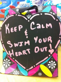Gift bag for swim team girls at states on Valentines Day! Used colorful gift bag, heart shaped chalk boards and light paint pen. Swim Team Gifts, Swimming Diving, Senior Gifts, Gifts For Friends, Friend Gifts, Paint Pens, Holiday Sales, Christmas Wishes, Favorite Holiday