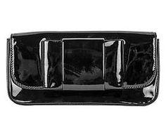 Pochette in vernice nera Miu Miu - 20x10x3 cm