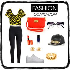 """#comicconfashion"" by lenkafen on Polyvore"