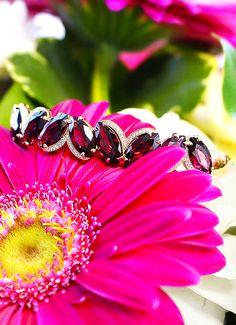 Lindsay Allison garnet cuff #diamonds #gems #danarebecca