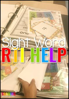 Sight Word RTI help is here! Check out this organization tip to give each student in your classroom a new minutes to work with THEIR level of sight words!