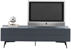 Modern media units - Quality from BoConcept Fermo media unit with drop down door and drawer, the product is available in different colours. Shown colour, charcoal grey lacquered/matt black structure lacquered. H45½xW152xD50cm. [Fermo - BE28]  Article no.: 3670075BE287878