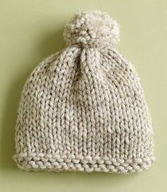 Free knitted hat pattern Knitted Hats Kids, Baby Hats Knitting, Easy Knitting, Baby Knitting Patterns, Loom Knitting, Crochet Hats, Scarf Patterns, Knit Hats, Crochet Ideas