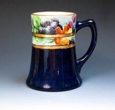 Antique Hand Painted Signed Limoges Mug with by DejaVuPorcelain