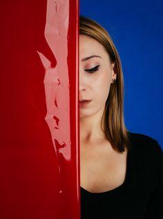 #portrait #portret #czerwony# #niebieski #red #blue #colour #kolorowy #studio #photography #photoshoots #fotografia #urzadfotografii #model #modeling