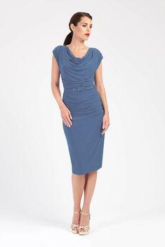 7fd8df010c27c 521 Best Dress to Impress images in 2019 | Bishop sleeve, Blue midi ...