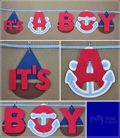 It's a Boy nautical sign